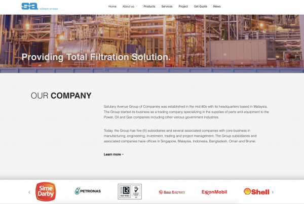 SA Group Salutary Avenue - Web Design Portfolio