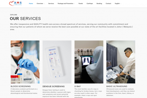 AMS Clinic - Web Design