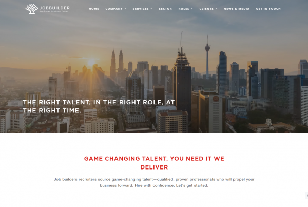 Jobbuilder - Web Design