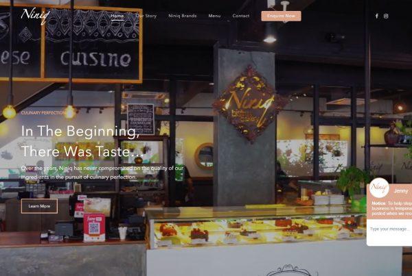 Niniq Foods - Web Design