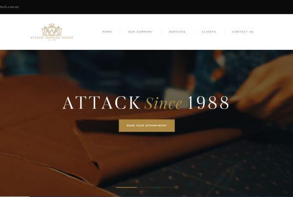 Attack Fashion House Sdn.Bhd.- Web Design